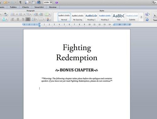 Bonus chapter